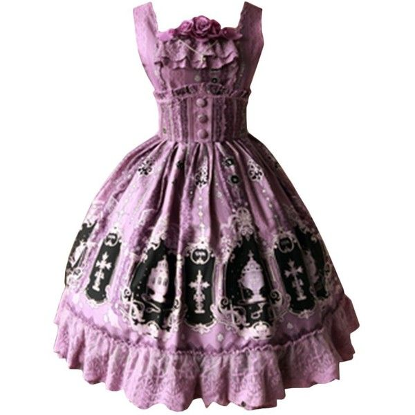 Partiss Womens Classic Polyester Boning Lolita Dress Summer Bowknots... ($150) ❤ liked on Polyvore featuring dresses, purple summer dresses, summer dresses, corset style dress, summer day dresses and purple dresses