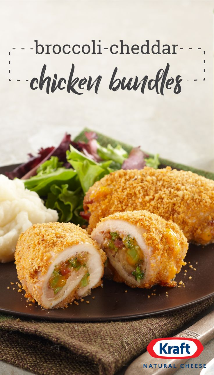 Broccoli-Cheddar Chicken Bundles – You might see something like these broccoli-cheddar chicken bundles in the freezer section—but they're so much tastier when you make them yourself! Ready in 45 minutes, this recipe also couldn't be easier to make for your dinner table.