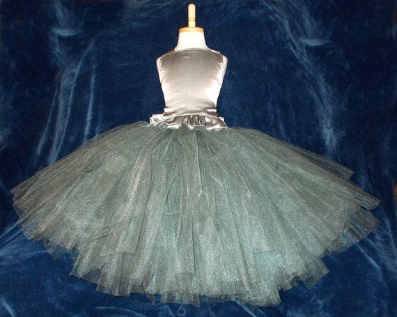 Shabby Chic Charcoal Gray & Silver Satin by BizzyBumpkins on Etsy