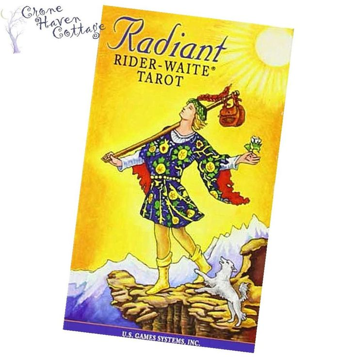 RADIANT RIDER WAITE TAROT CARDS DECK Wiccan Wicca FREE SHIPPING