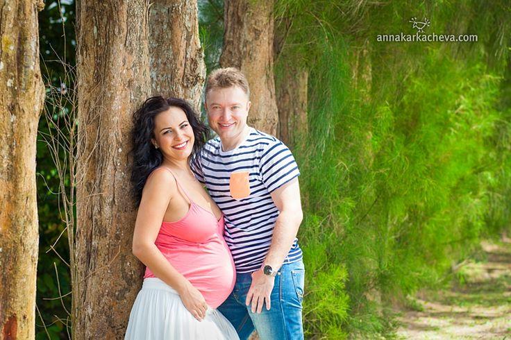 Беременная пара, съемка на Пхукете
