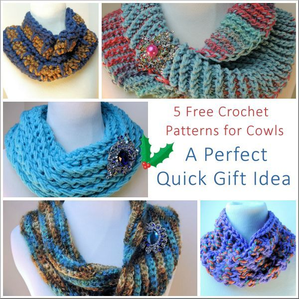 5 Free Crochet Patterns for Quick Cowls | WIPs 'N Chains
