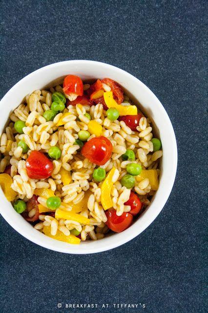 Insalata di Kamut con piselli, pomodorini e peperone  | #vegan #vegetarian