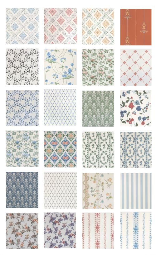 Swedish Wallpaper for Laundry room #LaundryByDesign