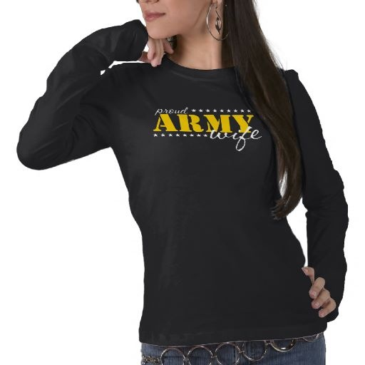 Proud Army Wife Gold Star T Shirts