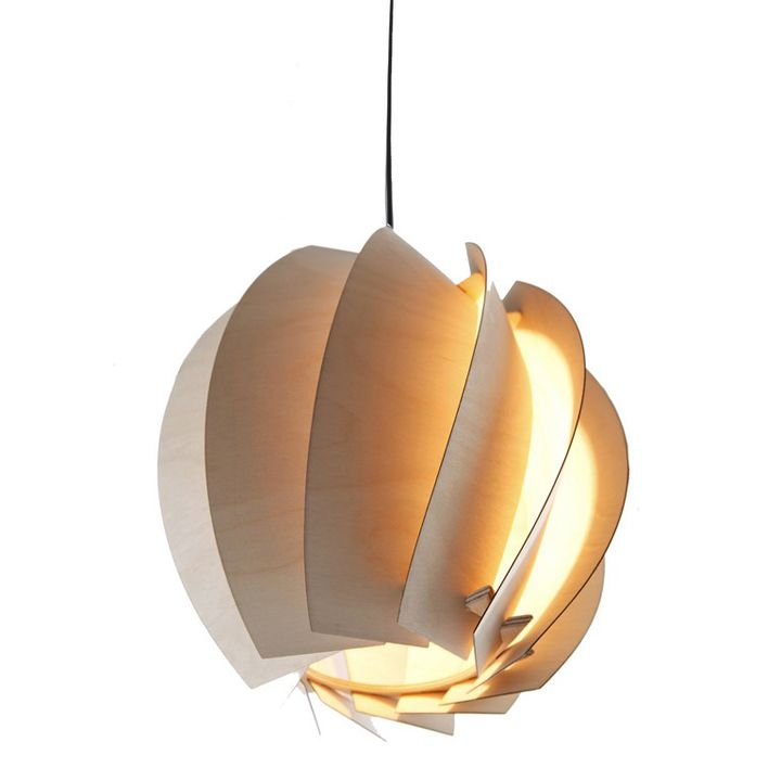 the bloom pendant light shown here is made from 100 fsc certified birch plywood cabinet lighting fsc