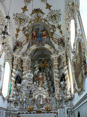 ALEIJADINHO, como entalhador. Retábulo da capela-mor da Igreja de São Francisco em São João del-Rei