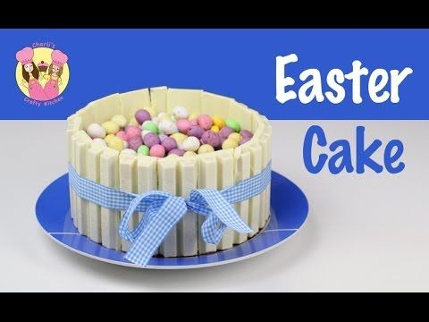 EASTER KIT-KAT CAKE - decorate with M&Ms or chocolate eggs - by Charli &...