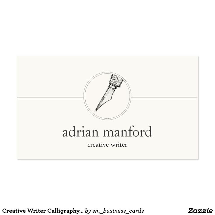 11 best Writer Business Cards images on Pinterest | Carte de visite ...