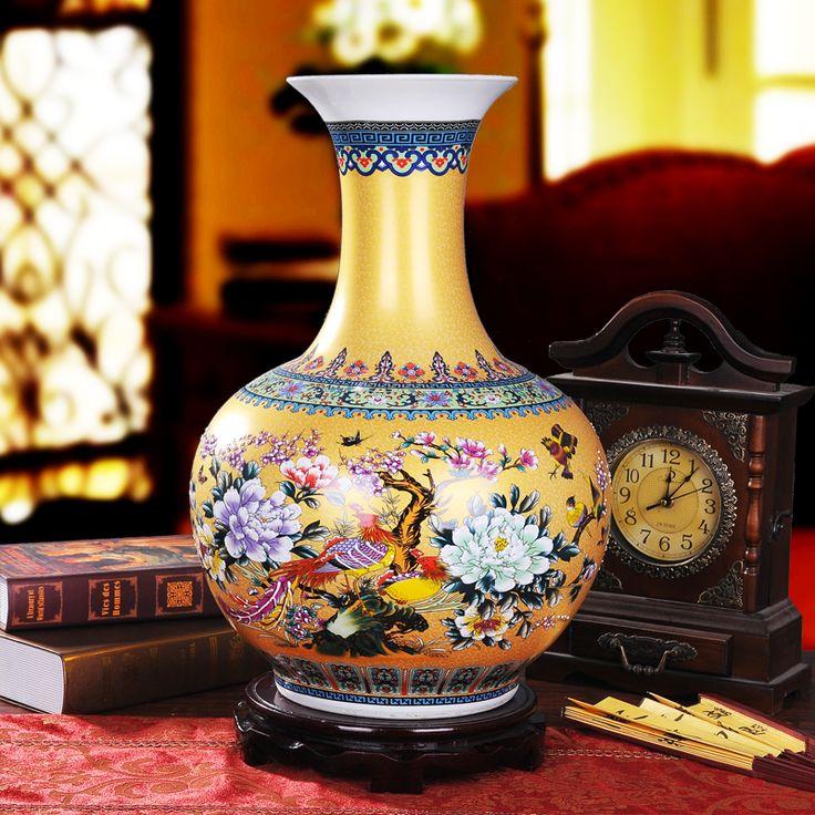Jingdezhen Porcelana Antigua Esmalte de lujo Desgin Gran Jarrón Piso Florero Decoración Clásica China Gran Palacio Antiguo Jarrones(China (Mainland))