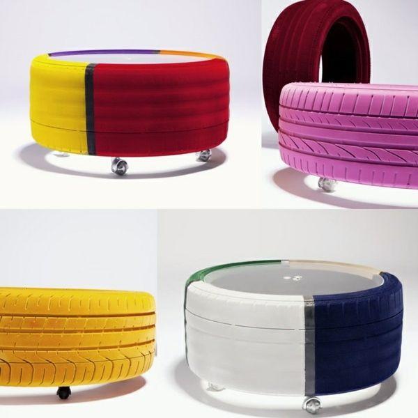 100 muebles de bricolaje de los neumáticos de coche - reciclaje de neumáticos
