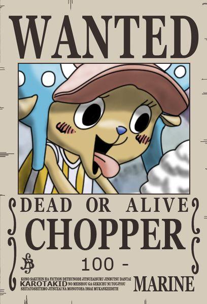 Chopper Dressrosa Wanted Poster