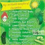 Top 10 Health Benefits of Cucumbers