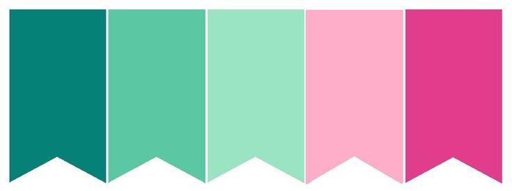 Natureza tem muito verde! Que tal usar vários tons de verde (inclusive o lindíssimo verde-água) na sua paleta, combinados com dois tons de rosa, um claro e um mais forte? Vamos ver como fica? Amei!…