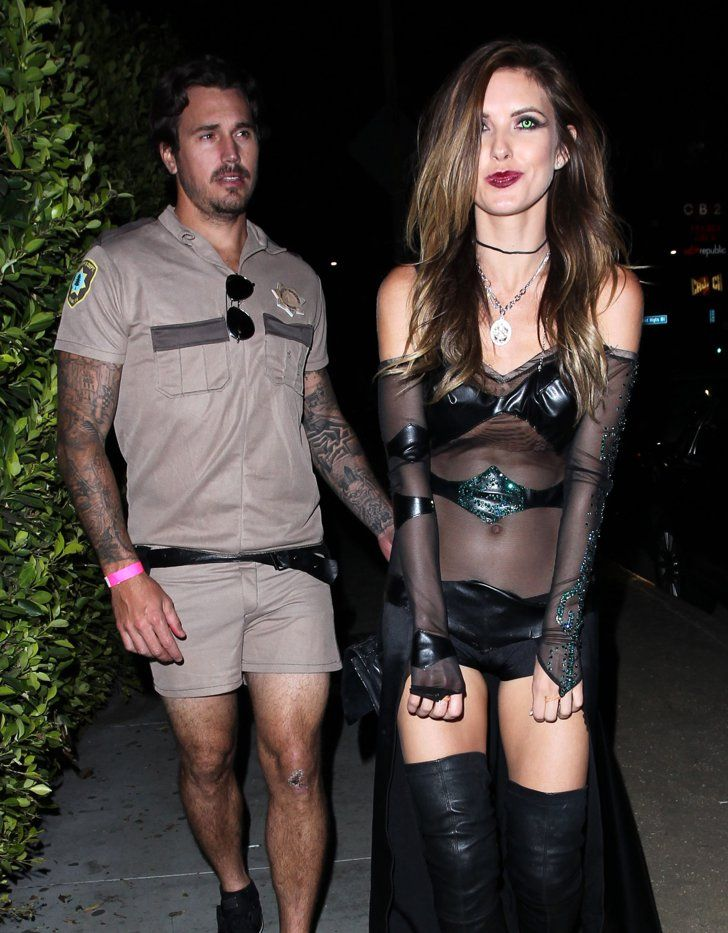 Pin for Later: These Stars Had the Best Pop Culture Halloween Costumes This Year Lt. Dangle Audrina Patridge went goth in a see-through ensemble, and her boyfriend, Corey Bohan, was Lt. Dangle from Reno 911!