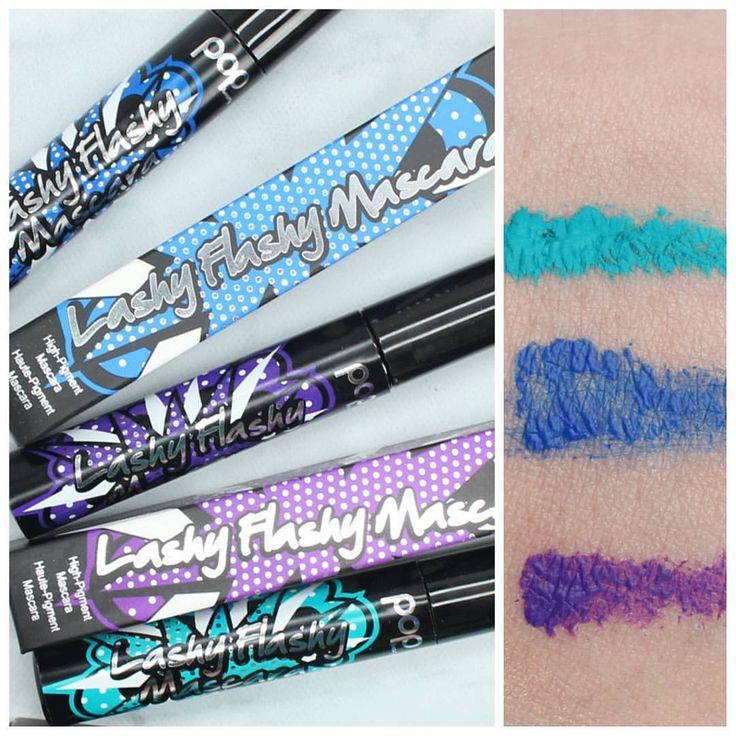 Pop Beauty Purple, Blue and Teal colored mascara