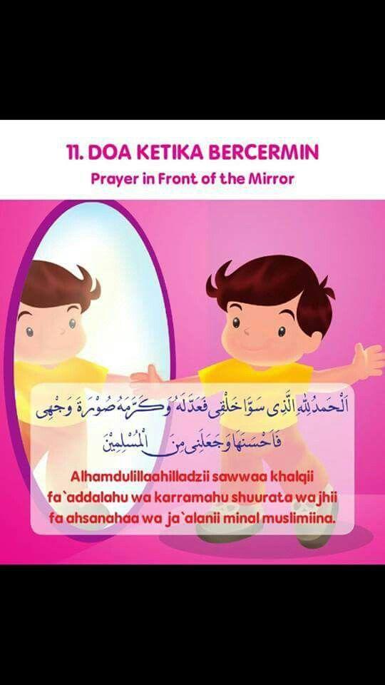 Doa Ketika Hendak Bercermin