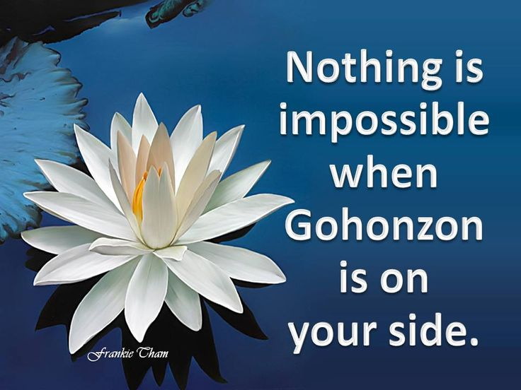 Gohonzon on my side