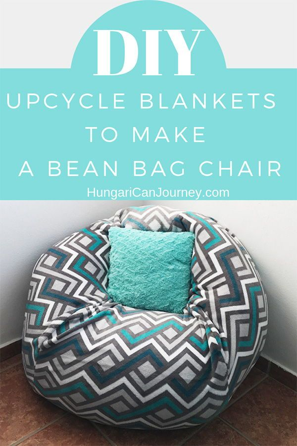 How To Make A Bean Bag Chair Out Of Old Blankets Make A Bean Bag