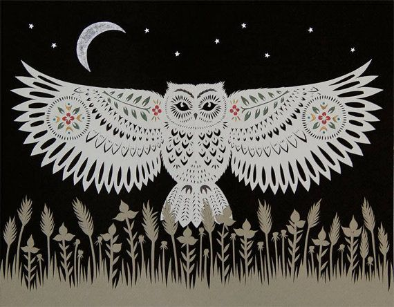 Cut paper art prints by Angie Pickman, Rural Pearl (Kansas).