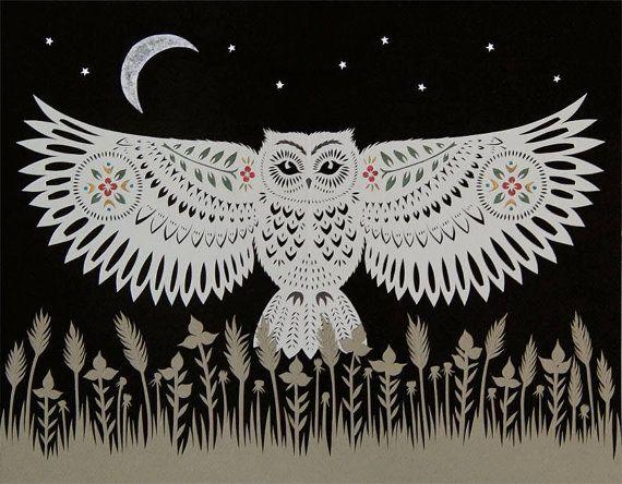 Cut paper art prints by Angie Pickman, Rural Pearl (Kansas).