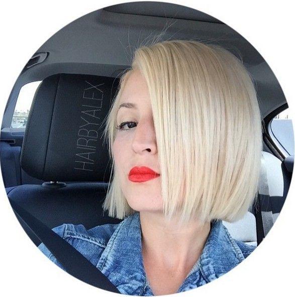 chin length straight blonde bob haircut for fine hair