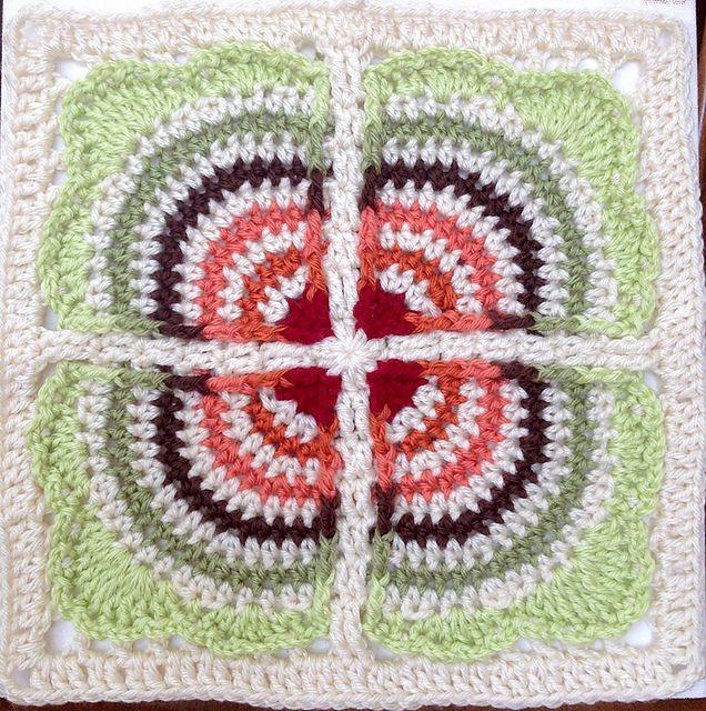 Lujo Los Patrones De Crochet Plazas Libres Motivo - Patrón de ...