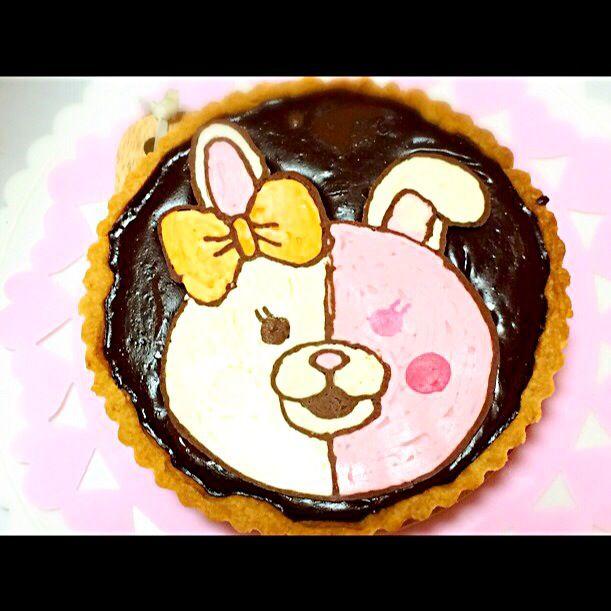 今回はお顔だけ。丸いケーキには丸いお顔が作りやすいです。 - 46件のもぐもぐ - チョコタルトでダンガンロンパのモノミちゃんキャラケーキ by De trois,M   クックパッド料理教室稲城校
