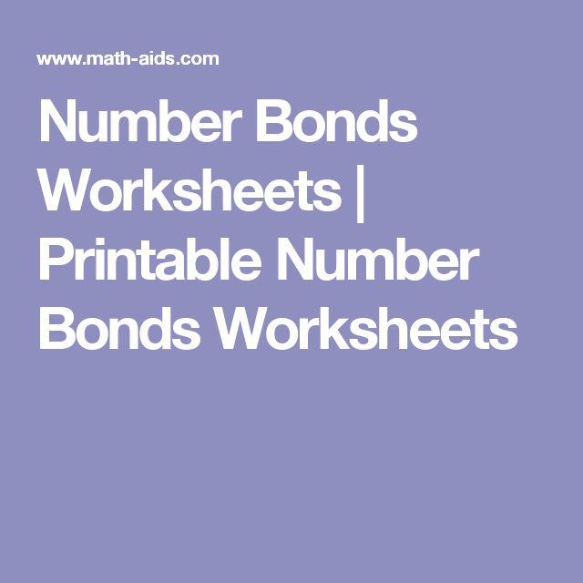Number Bonds Worksheets | Printable Number Bonds Worksheets