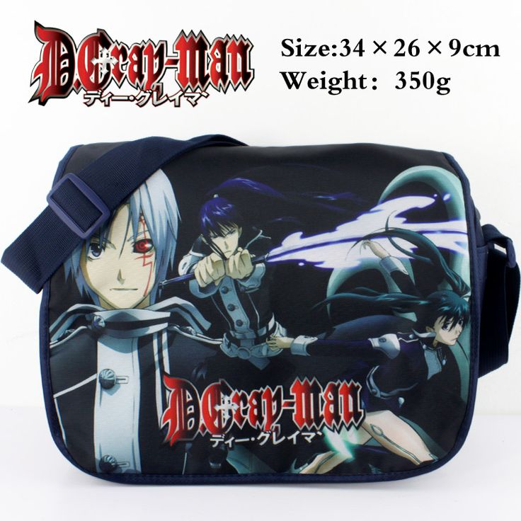 D Gray man polyester shoulder bag colorful printed w/ Allen Walker&Yuu Kanda