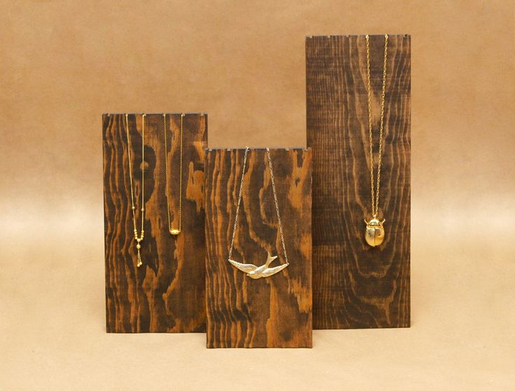 Wooden Necklace Display Board / Necklace Holder / Jewelry Display Necklace Stand Trade Show Display Craft Show Store Display /NB008