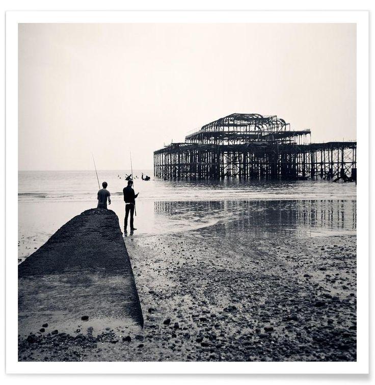 Brighton West Pier Art Print by BLAEK Design Studio now on Juniqe.com | Art. Everywhere.