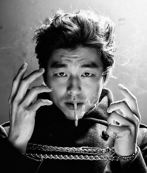 Gong Yoo. I hate cigarettes but it appears that all my favorite Kactors smoke ~sigh~
