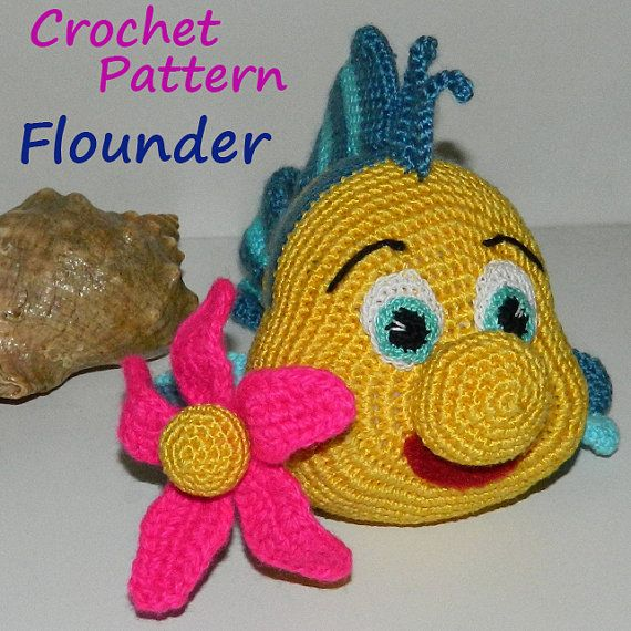 Crochet Pattern. Fish Flounder