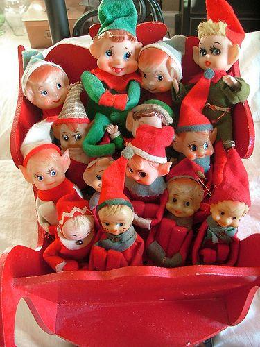 29 best Vintage Christmas Elves... images on Pinterest | Christmas ...