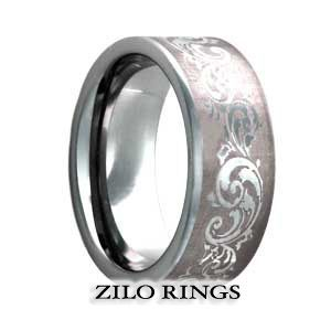 The #Carros is the most romantic band available. It's a band that sends a message of eternal love and cherishing. The wispy design of this band seems even more romantic because of the masculine design of the #TungstenBand.  Price: $221.62 (You save $110.84)