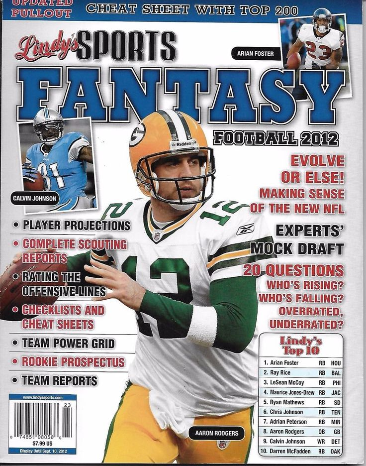 Lindys Sports Fantasy magazine Football Aaron Rodgers Scouting Mock draft Report