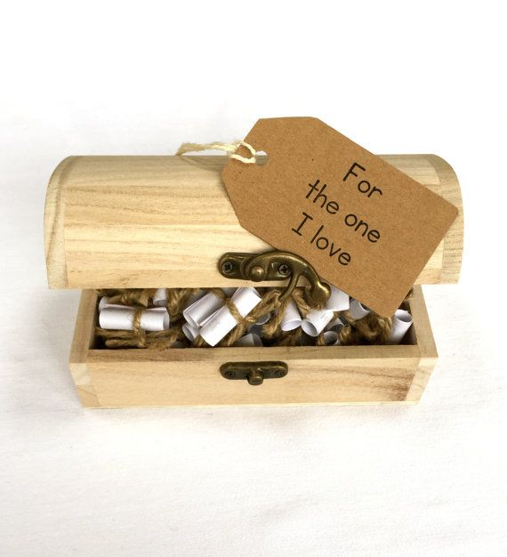 Love Message and Quote Chest Gift for by FiftyTwoReasonsWhy