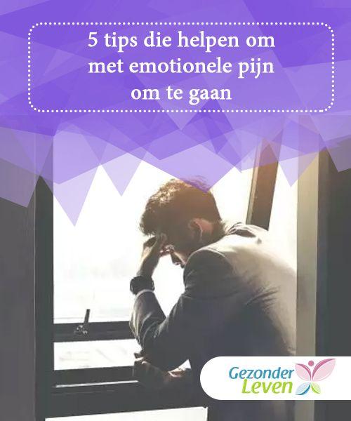5 tips die helpen om met emotionele pijn om te gaan  Emoties veroorzaken veel lijden als ze niet op de juiste manier aangepakt worden. Lees verder voor 5 tips die helpen om met emotionele pijn om te gaan.