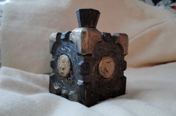 Steampunk treasure box with a hat lid by KeepOnDreamer on Etsy, €50.00