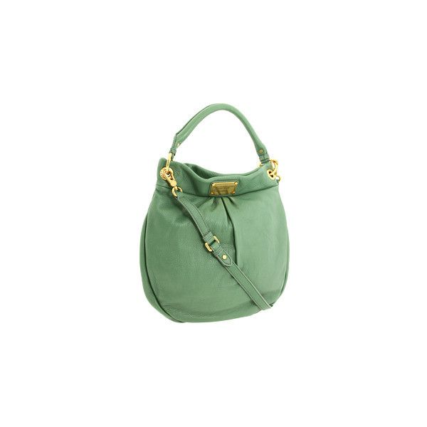 Marc by Marc Jacobs - Classic Q Hillier Hobo (Sage) - Bags and Luggage found on Polyvore featuring polyvore, women's fashion, bags, handbags, shoulder bags, bolsos, bolsas, couture, hobo and women's handbags