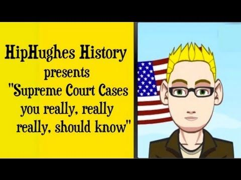 ▶ Supreme Court Cases You really need to know for the APUSH Exam - YouTube (make sure you skip the ad)