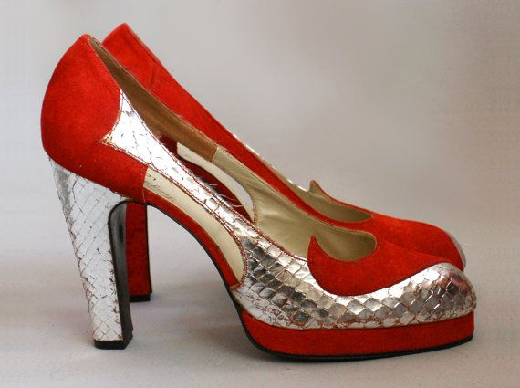 Ultimate lipstick red suede silver snake Terry de by MissPeelpants