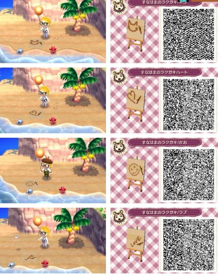 Animal Crossing: New Leaf – QR-Codes (Sandzeichnungen-Muster