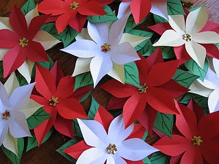 poinsettias cutouts with templates - Thanks KRISTY!  I will be making these this weekend.