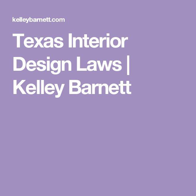Texas Interior Design Laws