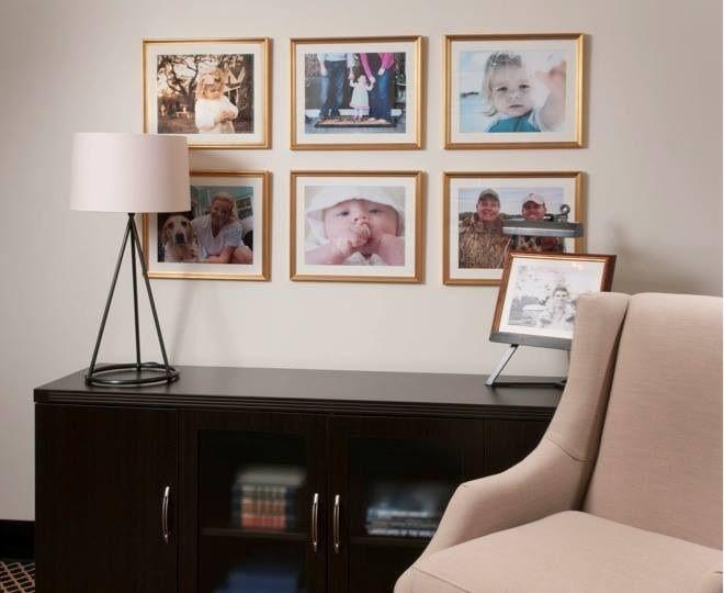 Liz carroll interiors framed family photos