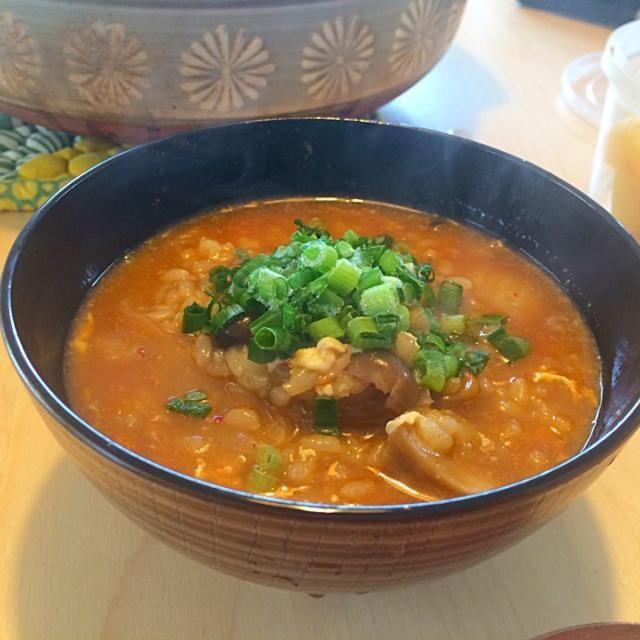 いつかの朝ごはん - 10件のもぐもぐ - キムチ鍋後の雑炊 by hanaruya9041
