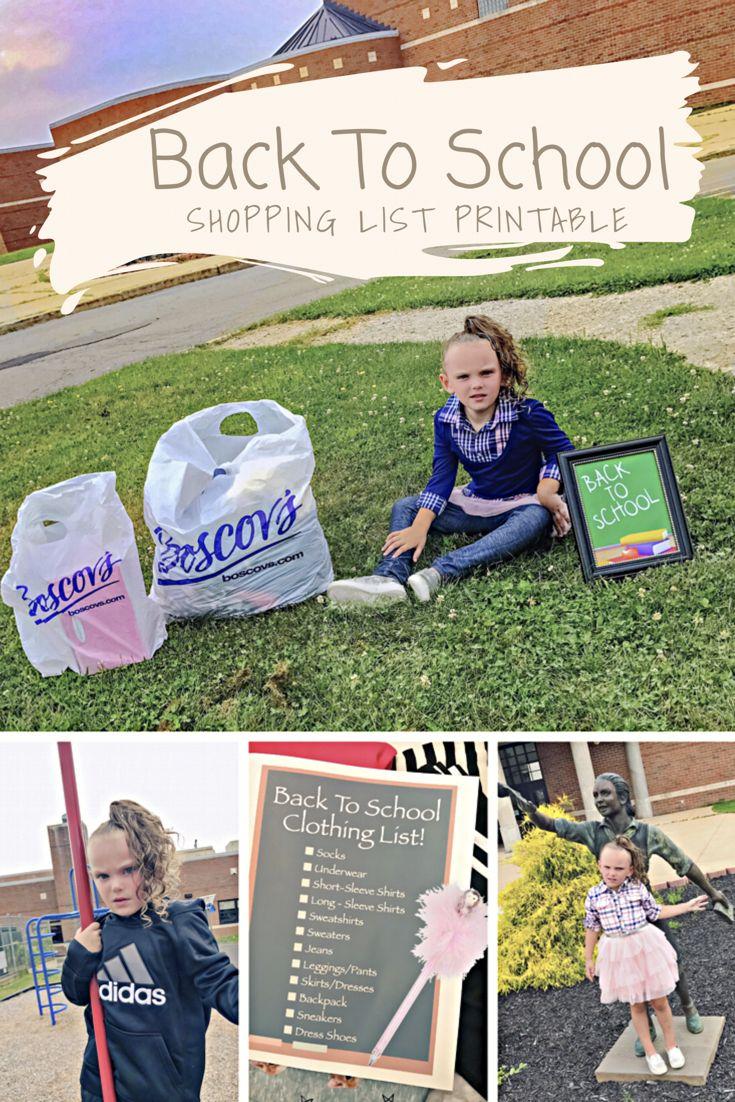 Back To School Shopping List Printable #Boscovs #ad
