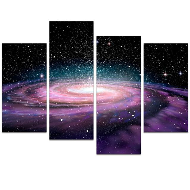 marvelous Diy Galaxy Wall Art Part - 17: Sweet Looking Galaxy Wall Art Small Home Remodel Ideas Visual Decor Modern  Space Picture Painting Diy
